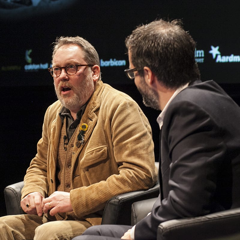 Comedy Duo Vic Reeves Bob Mortimer receive Aardman Slapstick Visual Comedy Award 2015 Slapstick2015 005